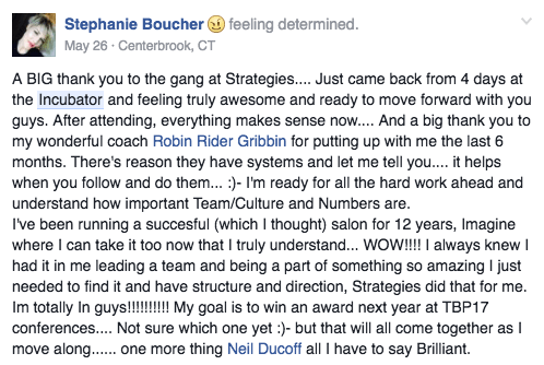 A big thank you to the gang at Strategies...
