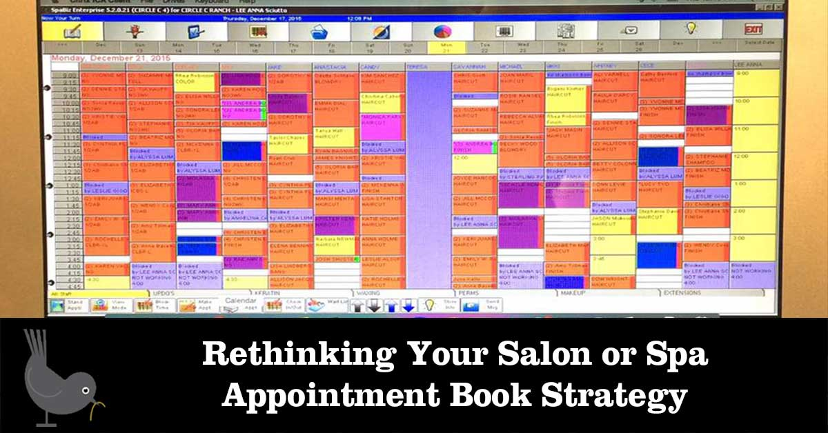 Rethinking your salon or spa appointment book strategy