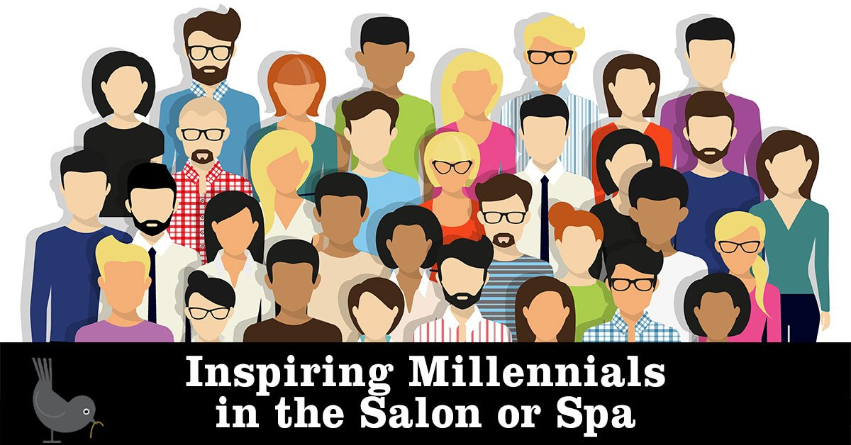 Millennials in the salon or spa