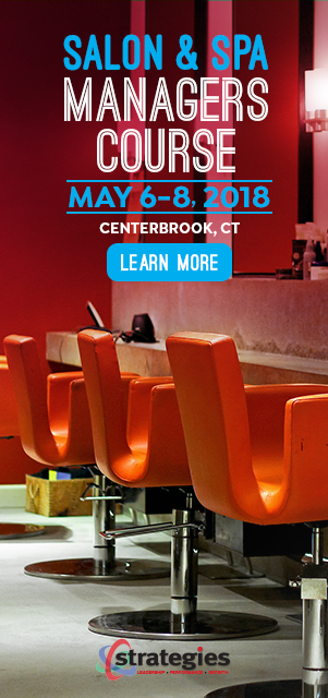 salon spa manager course may 6-8, 2018