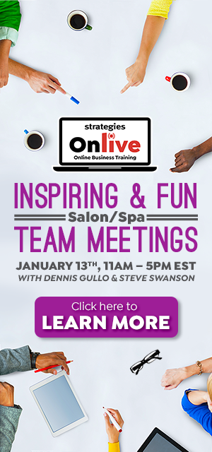 salon spa team meetings online training january 13, 2020