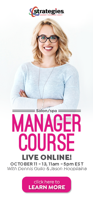 salon spa manager training - october 2020