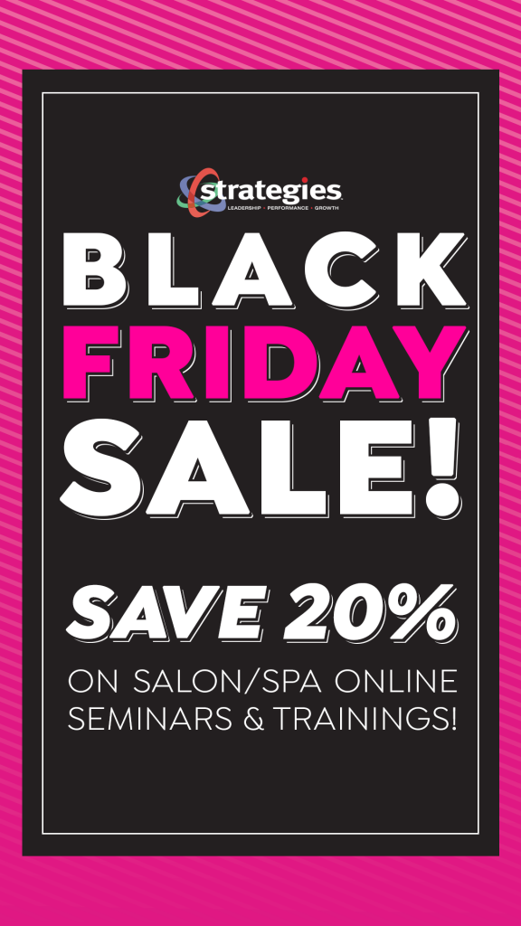 Salon Spa Seminar Black Friday Sale 2020