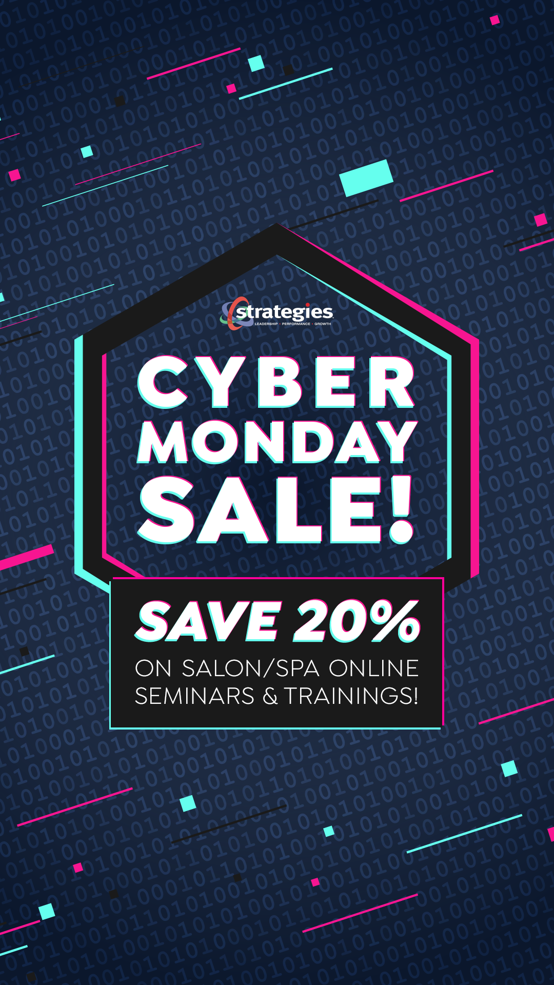 cyber monday 2020 salon spa business education