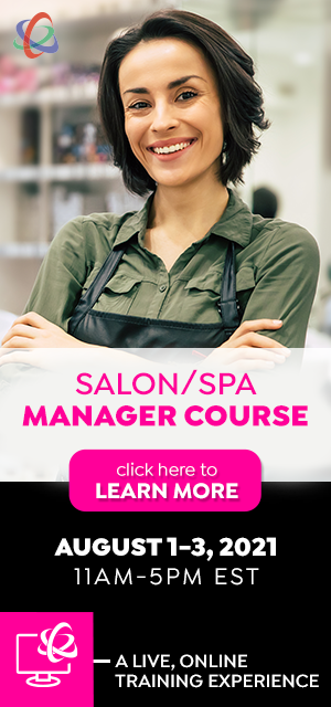 salon spa manager course August 1-3, 2021
