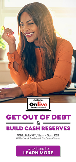 salon spa online business training feb 8 get out of debt build cash reserves